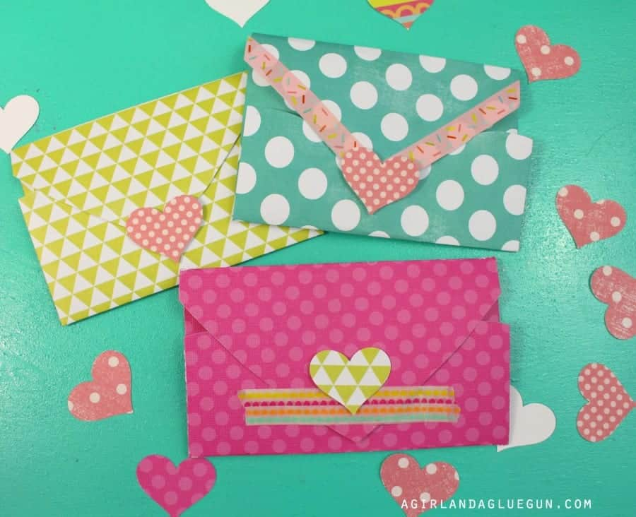 washi tape and hearts