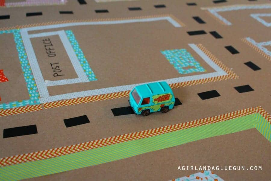 washi tape road map