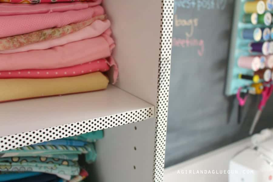 washi tape shelves