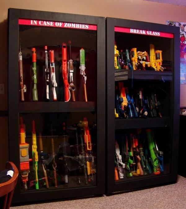 Nerf Gun Cabinet · 0904c7b4fa1607cf031033bfc5e196be · Wooden Storage ·  e49f4ea679c655032d52ed7098e0fada