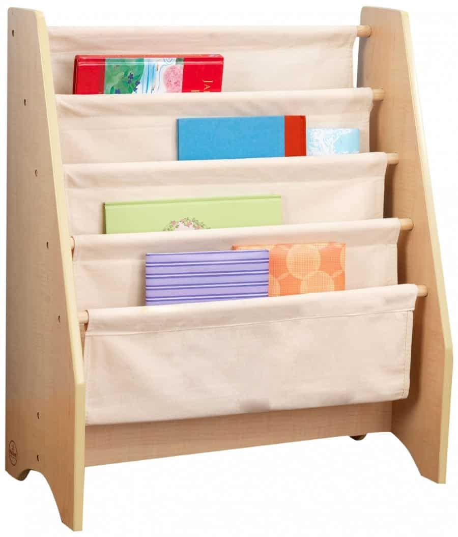 kids book storage  a girl and a glue gun - book sling shelf oaqbbklsl