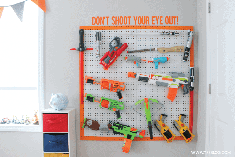 Nerf Storage Ideas A Girl And A Glue Gun