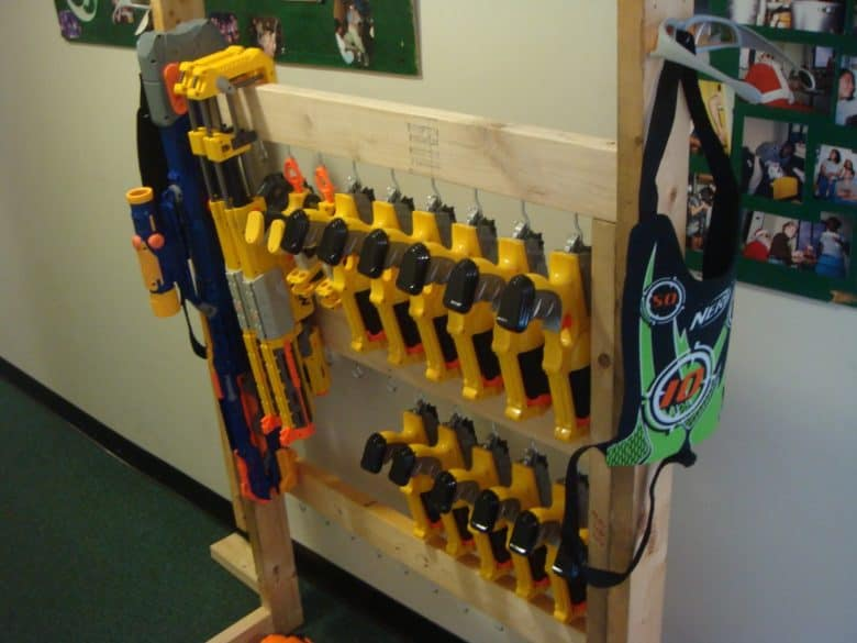 Nerf storage ideas! - A girl and a glue gun