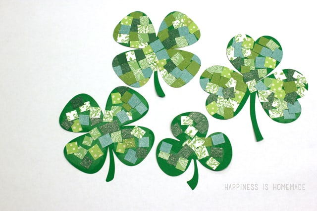 Mosaic-Paper-Shamrock-St-Patricks-Day-Kids-Craft