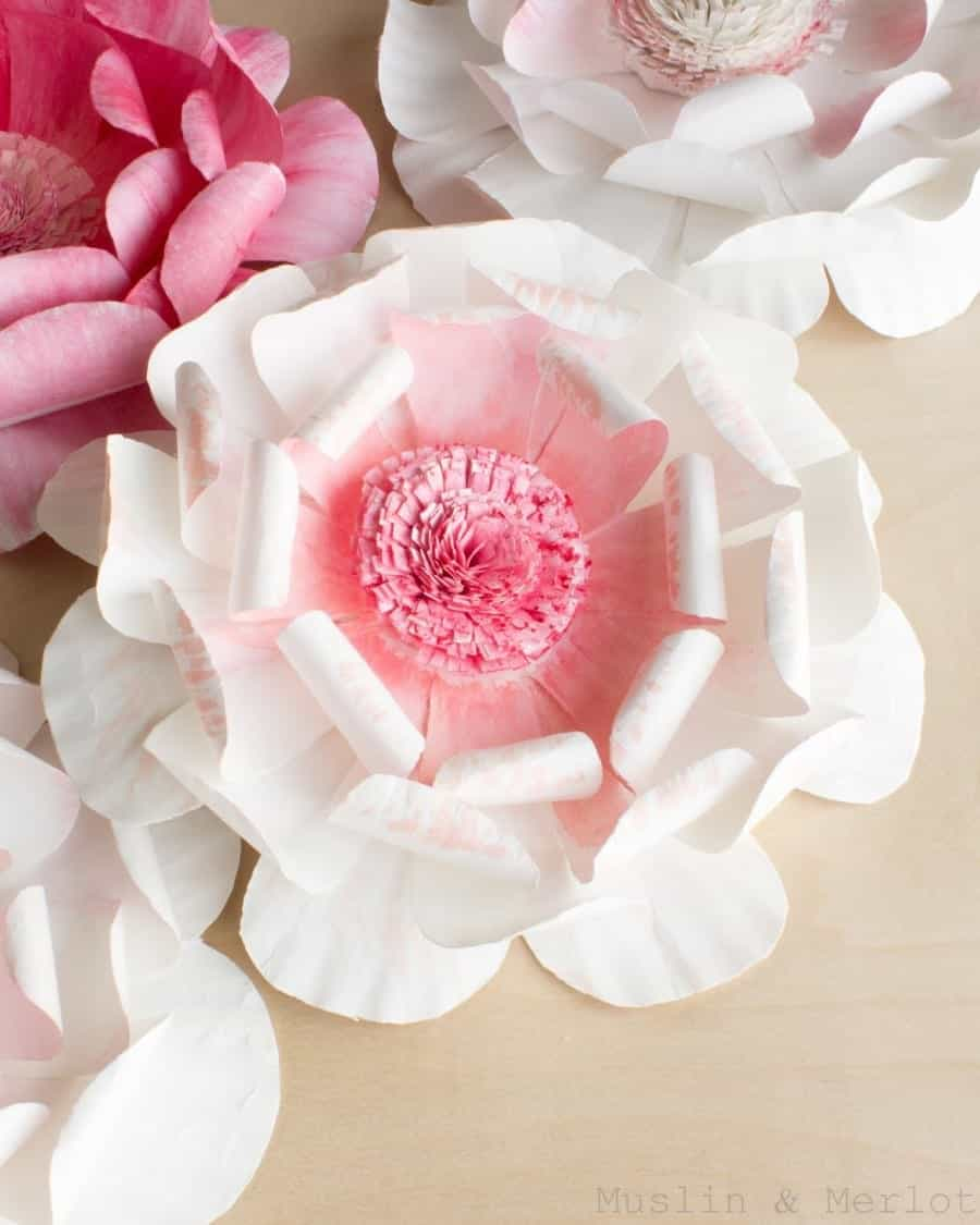 Paper plate flower long