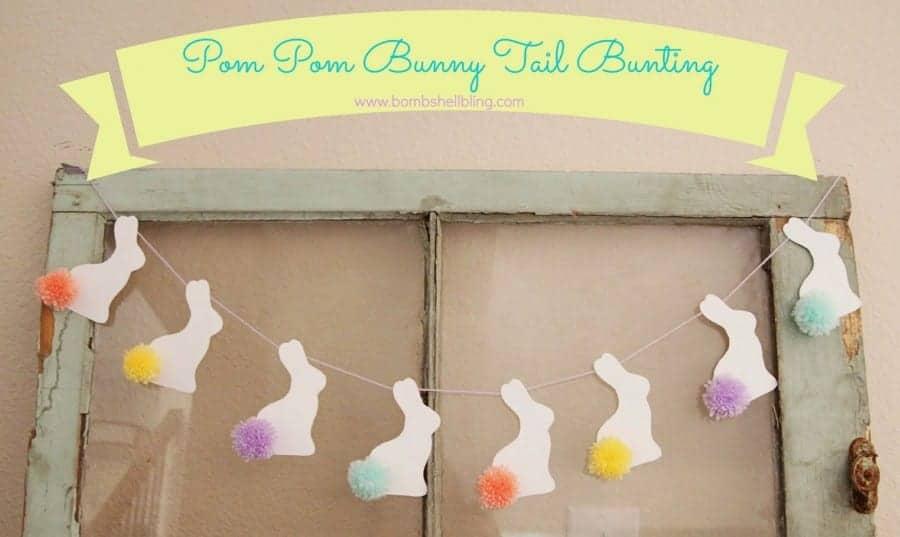 Pom Pom Bunny Tail Bunting 11