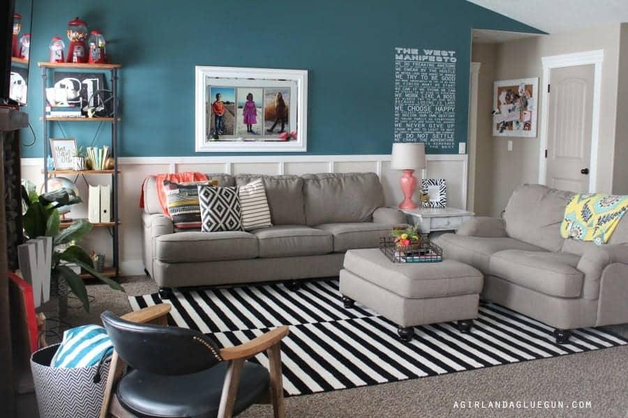 a girl and a glue gun living room