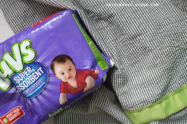 diapers and a blanket