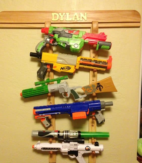 Nerf Storage Ideas A Girl And A Glue Gun