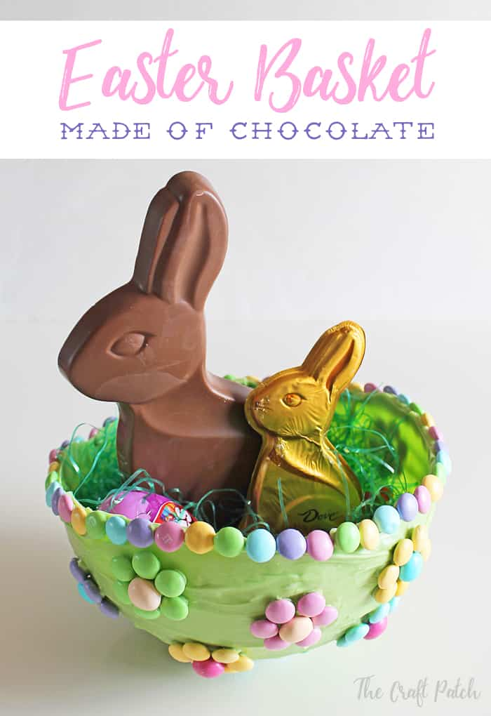 easter basket made of chocolate