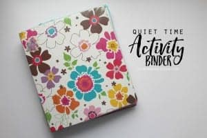 easy kids activity binder diy