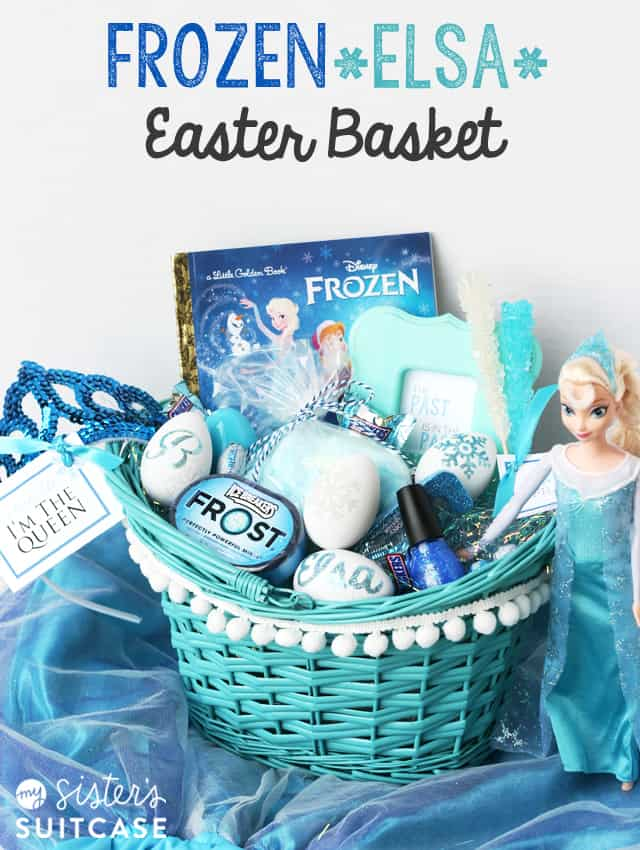 Easter basket roundup a girl and a glue gun frozen elsa easter basket negle Images