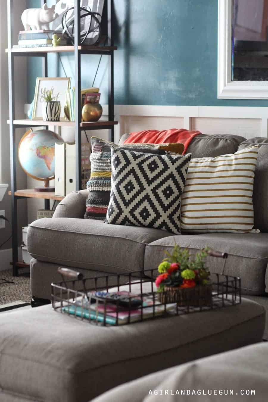 fun and colorful living room