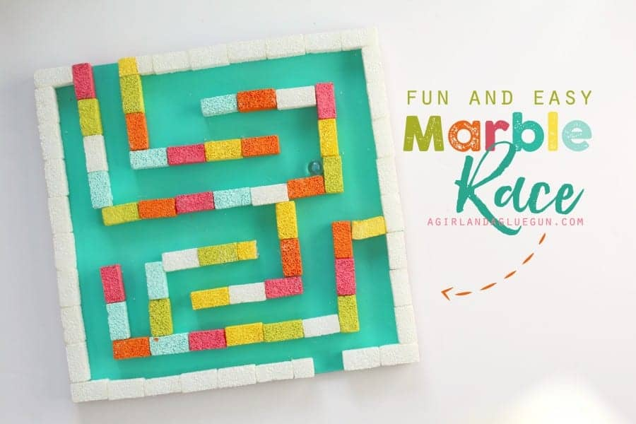 fun and easy marble race for kids