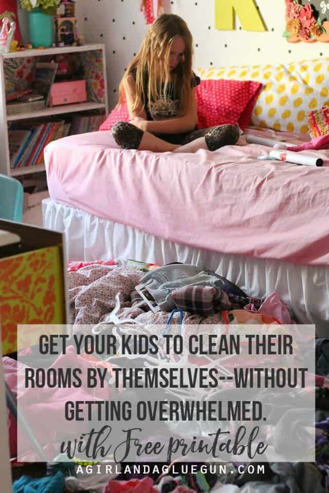 get your kids to clean their rooms by themselves--without getting overwhelmed with free printable!
