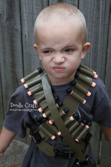 gun belt nerf bandolier army duct tape