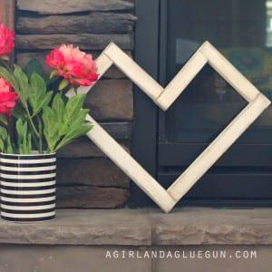 Geometric wood Heart