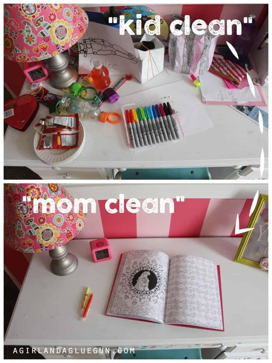 kid clean versus mom clean
