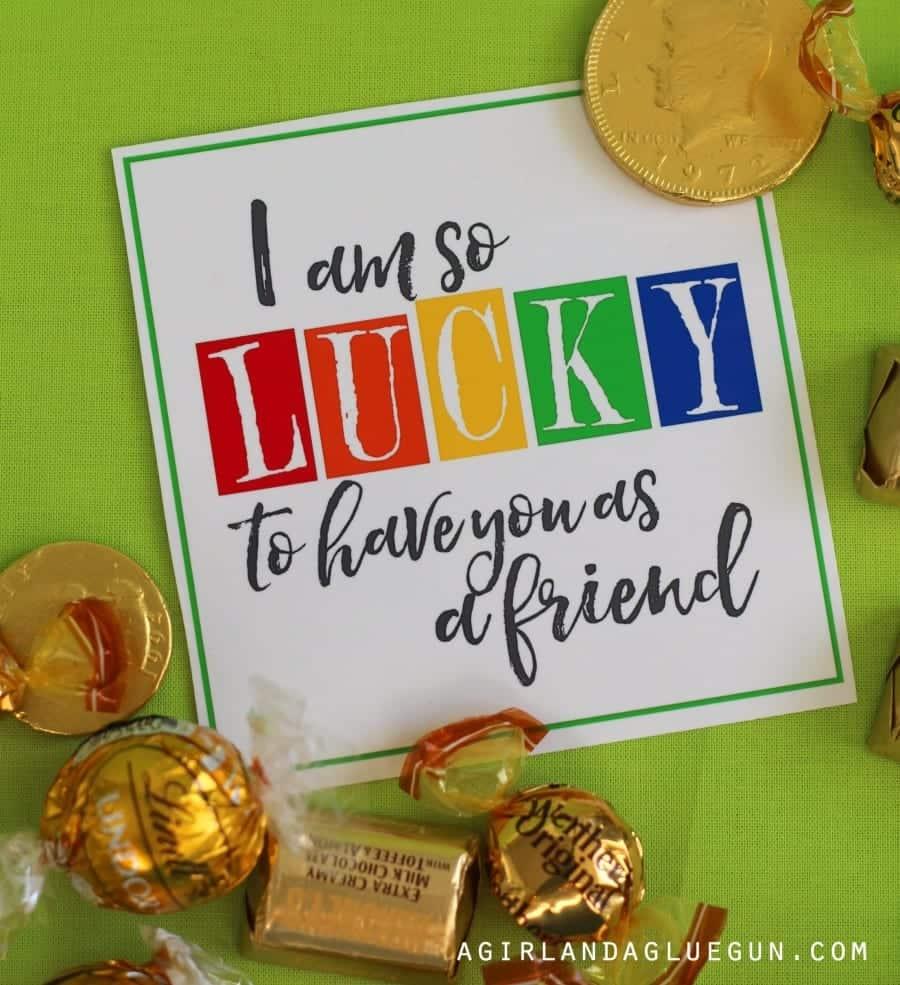 lucky st. patricks day printable
