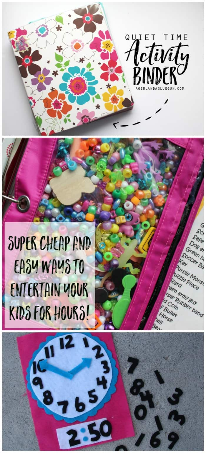 quiet time activity binder--cheap and easy ways to keep your kids entertained.
