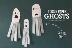 Tissue Paper Ghosts–great kids craft!