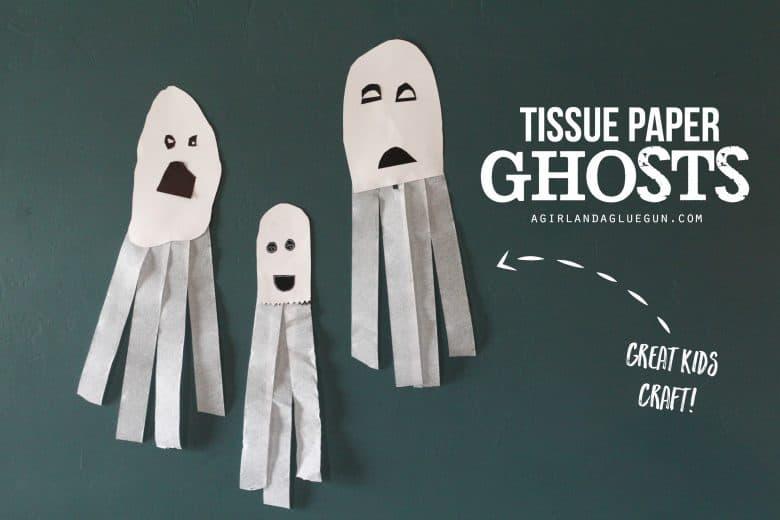 tissue paper ghosts great kids craft a and a glue gun