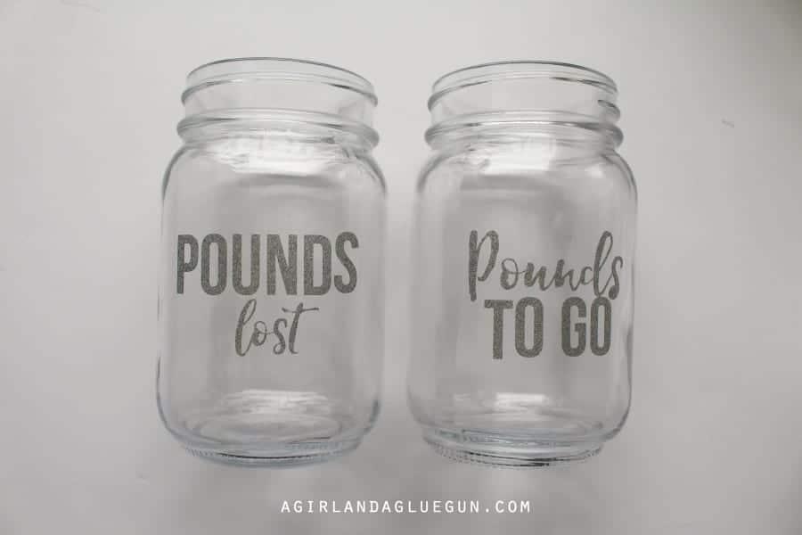 weight loss mason jars