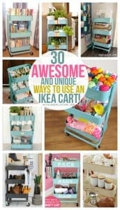 30 fun and unique ways to use an Ikea Raskog cart