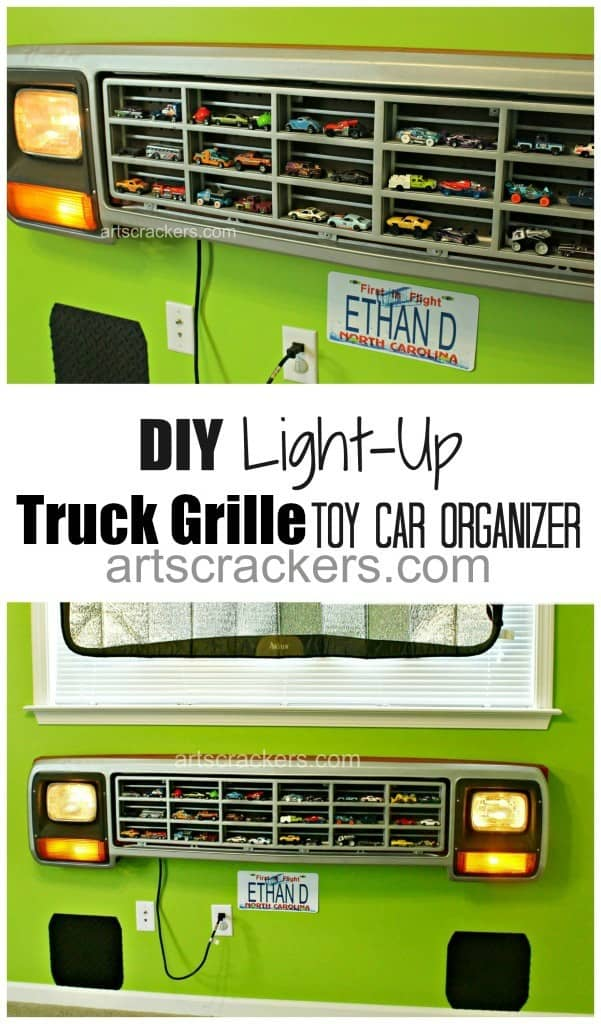 Truck-Grill-Hot-Wheels-Car-Organizer-Tutorial1-601x1024