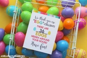 Surprise your neighbors or kids with an easter egg hunt–free printable!