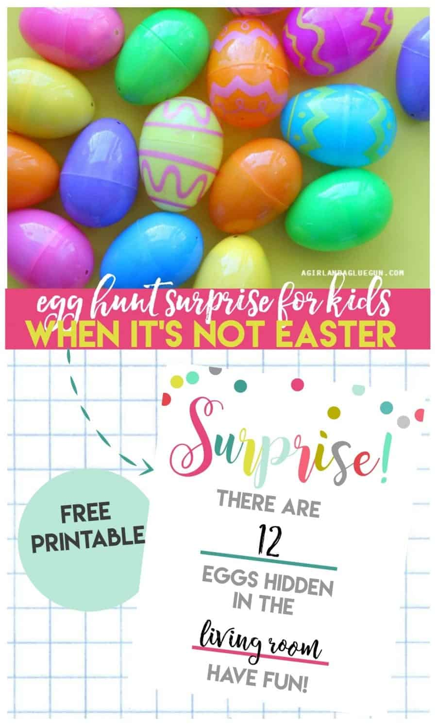egg hunt surprise for kids--when it's NOT easter