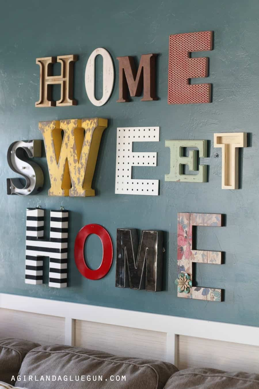fun typography wall