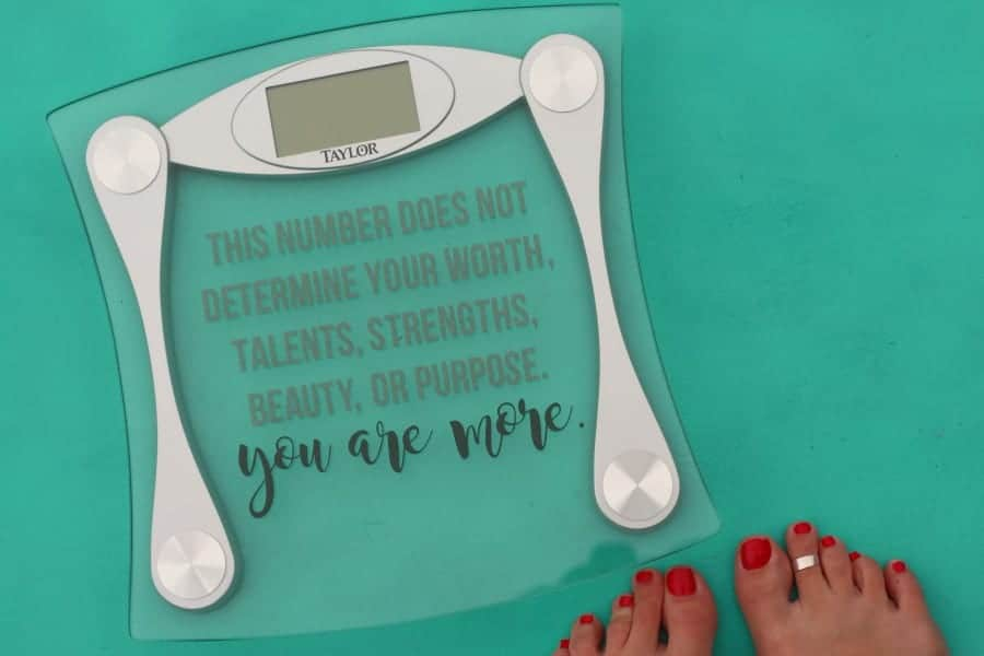 Quote For You Bathroom Scale A Girl And A Glue Gun