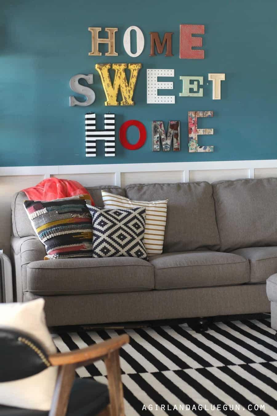 home sweet home living room