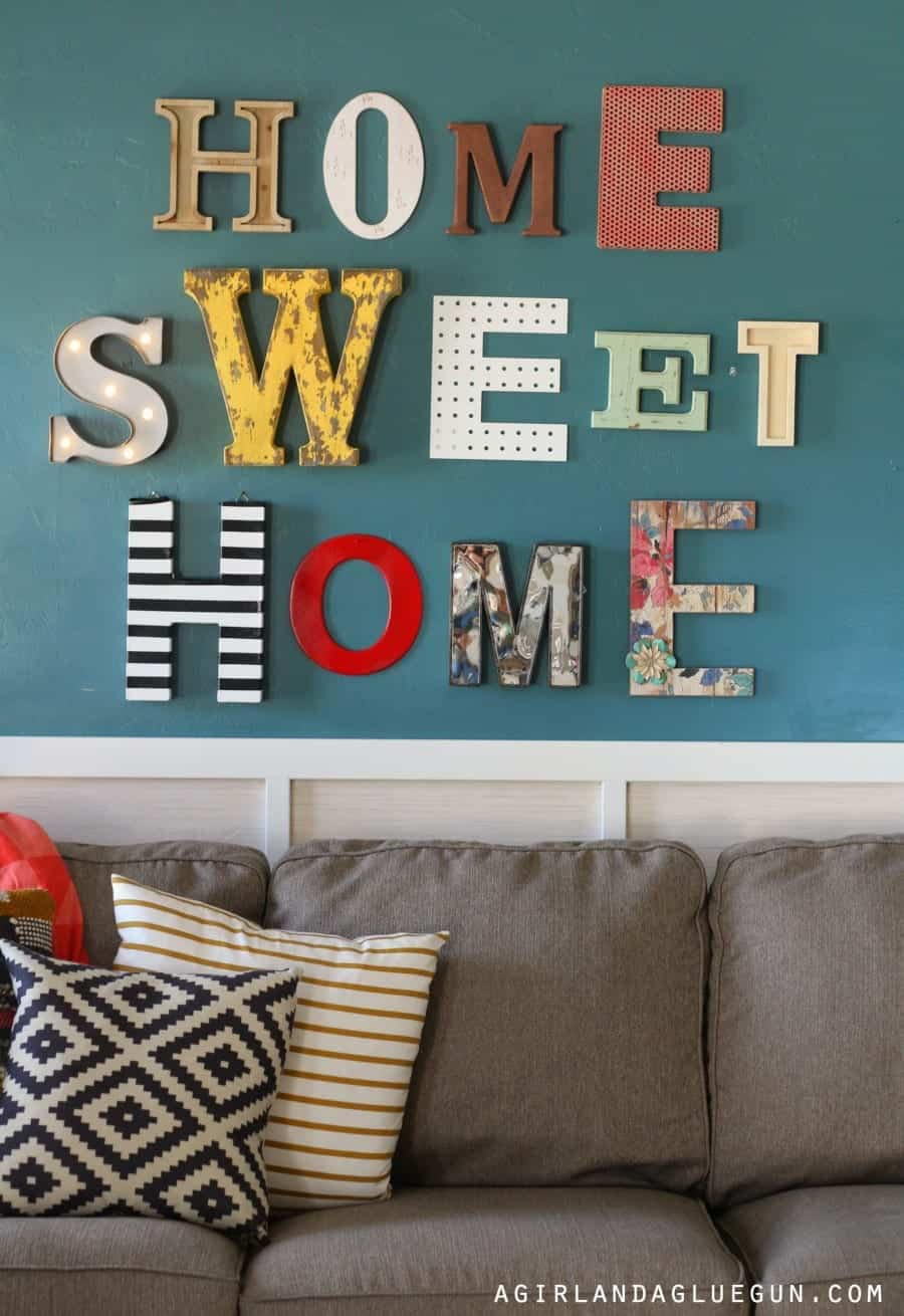 home sweet home sign a girl and a glue gun. Black Bedroom Furniture Sets. Home Design Ideas