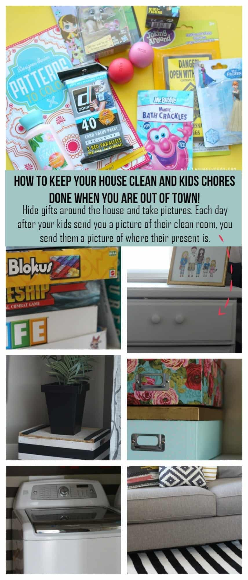 how to keep your house clean and chores done while you are out of town!
