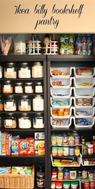 ikea billy bookshelf pantry