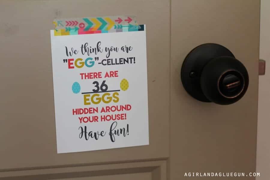 tape to door--best neighbor gift
