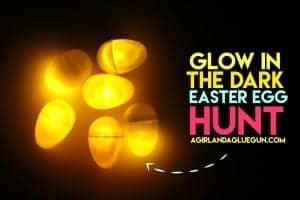 Glow in the dark egg hunt!