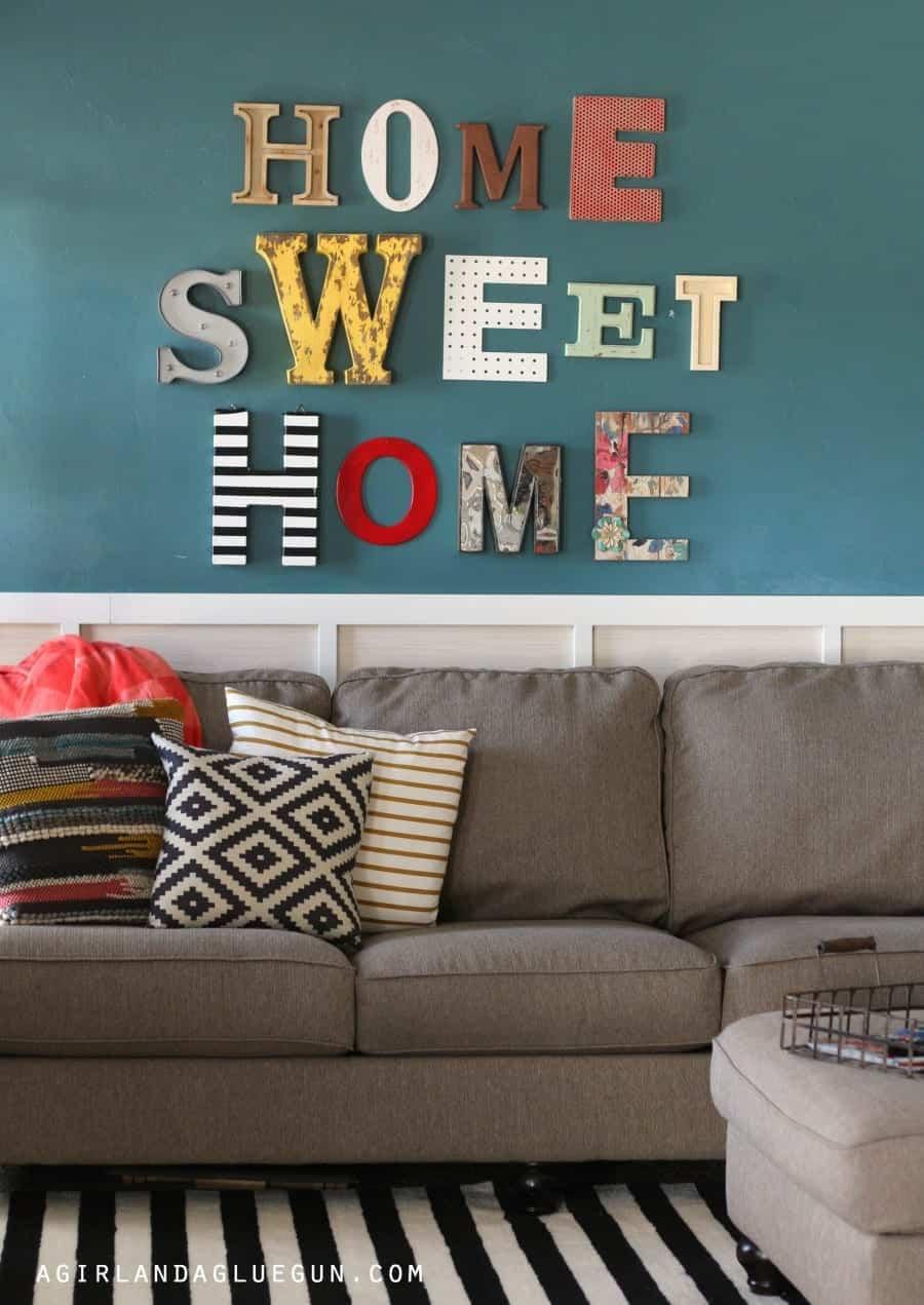 Home Sweet Home Sign A Girl And A Glue Gun