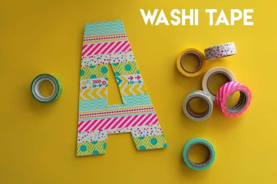 washi tape intital