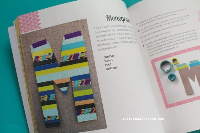 washi tape monogram