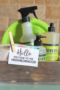 New neighbor welcome gift with printable