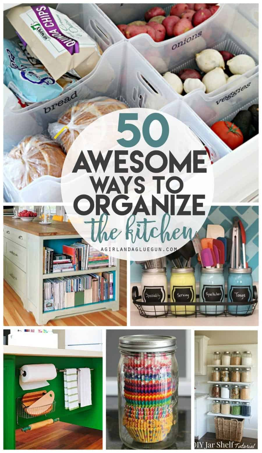50 awesome ways to organize the kitchen--awesome hacks