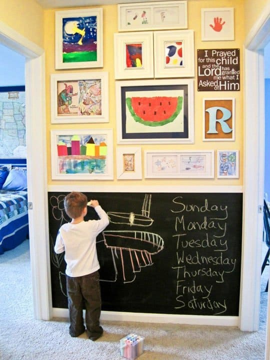 kid s art display ideas a girl and a glue gun