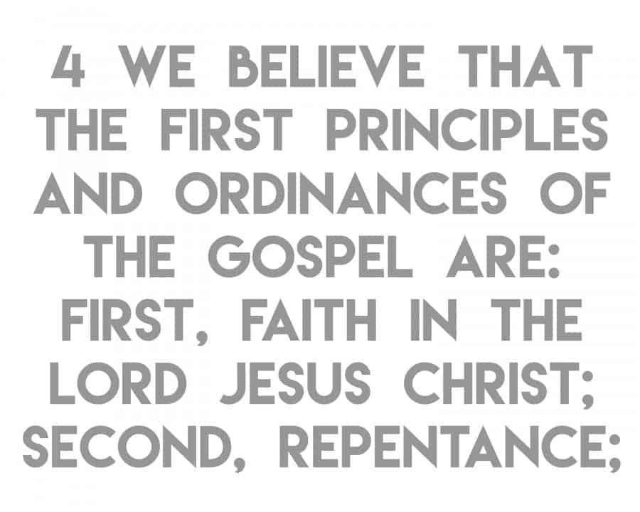 article of faith 4a