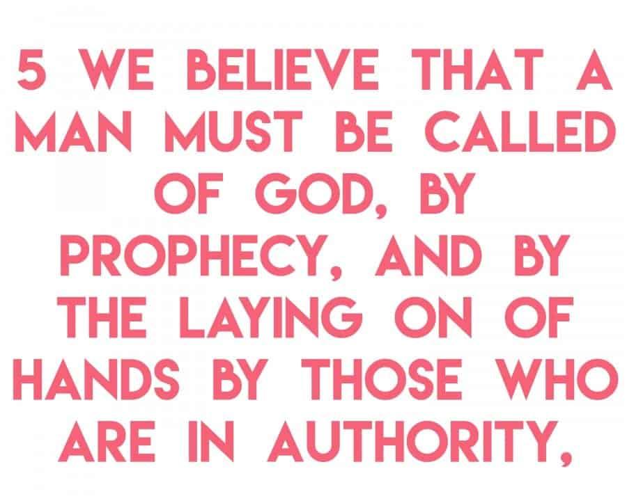 article of faith 5a