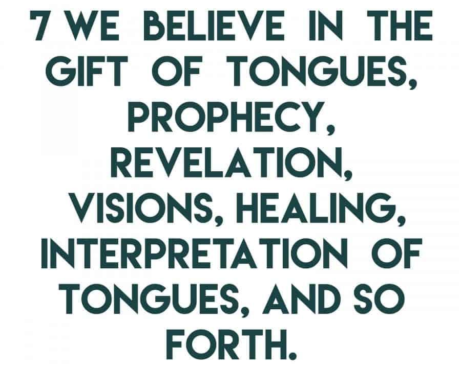 article of faith 7