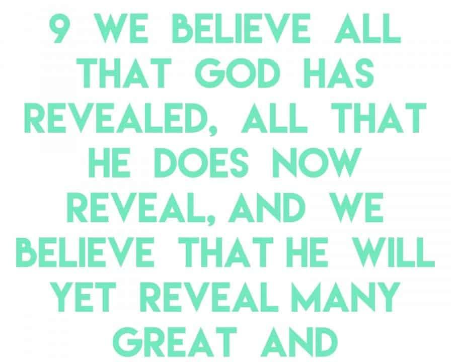 article of faith 9a