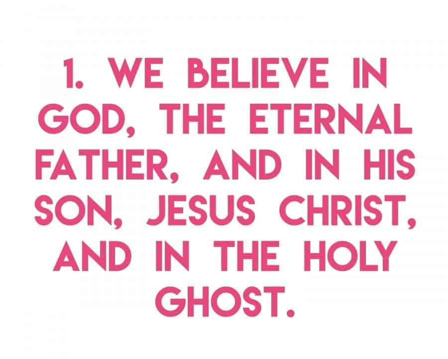 articles of faith 1